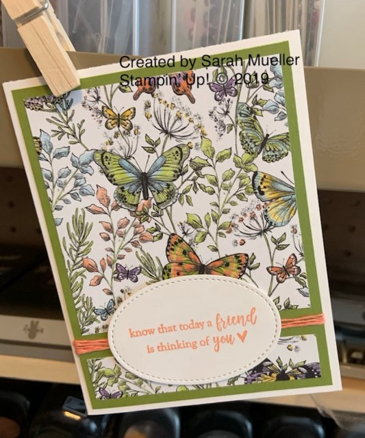 Stampin' Up! Botanical Butterfly Designer Series Paper