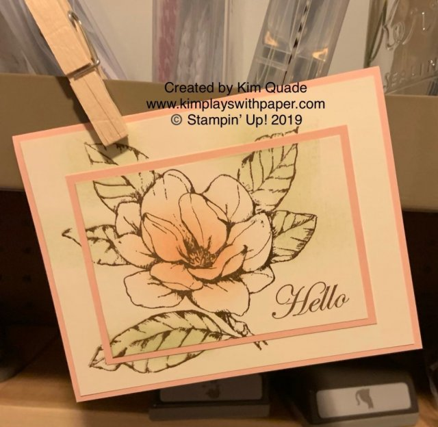 Stampin' Up! Good Morning Magnolia #simplestamping