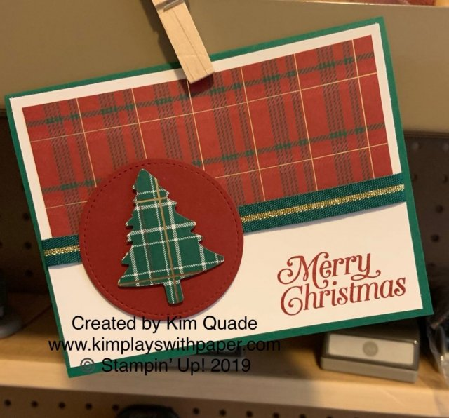 Stampin' Up! Perfectly Plaid and Pine Tree Punch