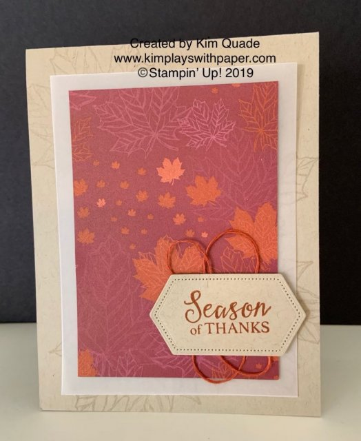 Stampin' Up! Season of Thanks, Come to Gather Designer Series Paper