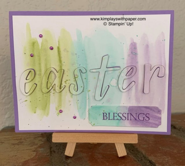 Team Stamp It Blog Hop Easter Watercolor