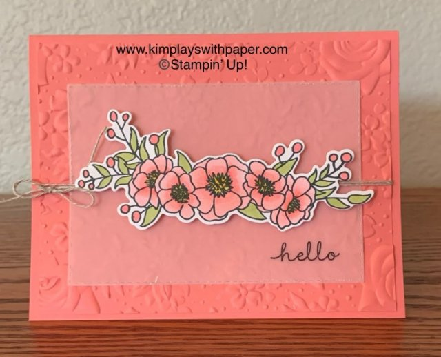 Bloom & Grow Flirty Flamingo Card Sample